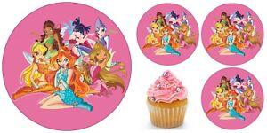 Winx Elfe Fee Eßbar Muffin Torten-Bild-Aufleger Party Deko Geburtstag Cupcake