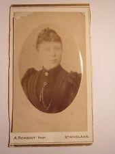 St. Nikolaas - 1890 - junge Frau - Portrait / CDV Sint-Niklaas Belgien