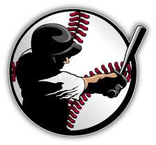 Baseball Player Inside Ball Car Bumper Sticker Decal 5'' x 5''