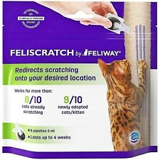 Lot Of 4 ~ Feliway (Feliscratch) Redirects Scratching Onto Post 36 Pipettes New