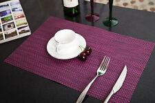 Tischset Platzset Platzmatte Tischmatte Platz Decke PVC Platzdeckchen Matte Lila