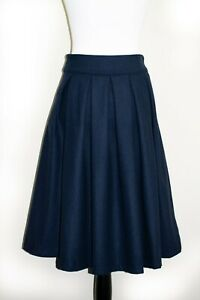 Lindy Bop 'Daniella' Dark Blue Vintage Swing Skirt with Pockets BNWT Size 14