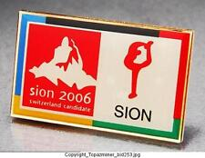 OLYMPIC PINS 2006 SWITZERLAND BID SION CANDIDATE OFFICIAL COLORFUL LOGO