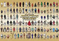 Vintage Star Wars Poster 104 Action Figure Checklist Kenner Palitoy AFA Print