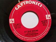 """LOS PANCHOS - Ay Que Noche / Y Llego 1974 LATIN BOLERO Caytronics 7"""""""