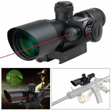 2.5-10x40 Rifle Scope - Illuminated Red & Green Mil-dot Reticle Hunting Tactical
