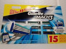 GILLETTE MACH 3  TURBO  15 CARTRIDGES  SPECIAL PACK 100% ORIGINAL MADE IN USA