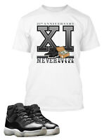 Sneaker Tee Shirt to Match Air Jordan 11 Jubilee Shoe Never Out of Style Mens T