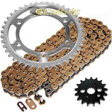 Gold O-Ring Drive Chain & Sprockets Kit Fits KAWASAKI VN800A VN800B Vulcan 800