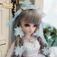 1/3 BJD Doll Puppe Freie Augen Gesicht Make-Up Perücke Kleidung Girls Full Set