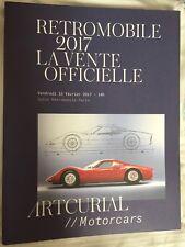 ARTURIAL MOTORCARS AUCTION CATALOGUE THE RETROMOBILE 2017 CATALOGUE
