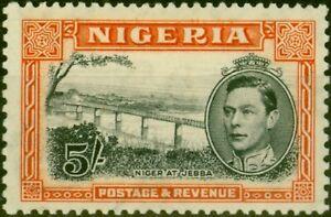 Nigeria 1938 5s Black & Orange SG59 P.13 x 11.5 Fine Mtd Mint