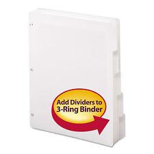Smead Three-Ring Binder Index Divider 5-Tab White 89415