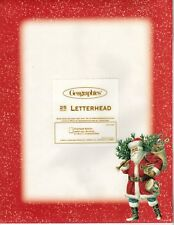 Old World Classic Santa White Christmas Letter Computer Paper - New 25 sheets