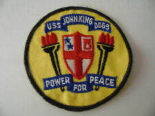 US NAVY PATCH USS JOHN KING DDG-3  / MARINE USA