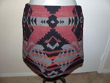 GAP Black/Burgundy Southwestern Wool Blend Short Skirt - Sz 14 - New with Tags!