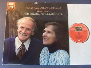 ELGAR / VAUGHAN WILLIAMS - VIOLIN SONATAS LP, H & Y Menuhin, EMI ASD 3820
