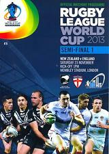 RUGBY LEAGUE WORLD CUP 2013 SEMI-FINAL DOUBLE HEADER MINT PROGRAMME