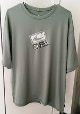 O'NEILL SKINS SERIES SUN PROTECTION SURFING WATERSPORTS SILVER RASH TEE 3XL NEW!