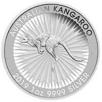 Australien 1 Dollar 2019 Kangaroo - Känguru 1 Oz Silber ST