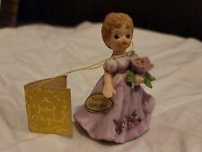 Josef originals Birthday Month February violet Flower Girl