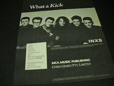 INXS on the heels of Need You Tonight WHAT A KICK 1988 PROMO POSTER AD mint cond