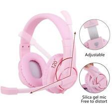 Comfortable Pink Kids Gaming Headset Xbox 3DS Nintendo PS4 Switch Windows Mac PC
