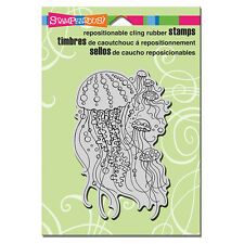 STAMPENDOUS RUBBER STAMPS CLING JELLY FISH NEW cling STAMP