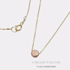 """Authentic Dogeared Gold Dipped Circle Necklace 16"""" V1RG100201000"""