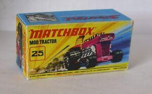 Repro Box Matchbox Superfast Nr.25 Mod Tractor