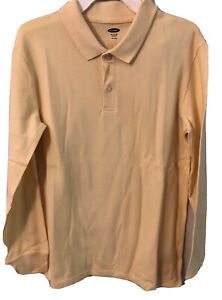 Old Navy Built-In Flex Pique L/S Uniform Polo for Boys Size XL 14-16Sweet Butter