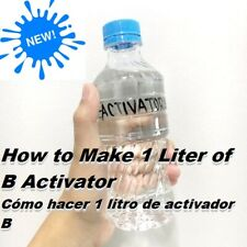 "Instruction for water-transfer printing activator ""dip activator"" liquid simple"