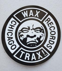 WAX TRAX Records Official Promo Sticker. Moon Logo KMFDM Ministry Front 242 TKK