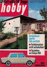 hobby,Magazin 13/1961,Simca 1000,Fertighäuser,De Havilland DH. 121 Trident