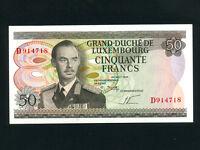 Luxembourg:P-55a,50 Francs,1972 * Grand Duke Jean * UNC *