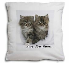 'Love You Mum' Mothers Day Cats Soft Velvet Feel Cushion Cover Wi, AC-189lym-CPW