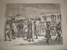 LA RUSSIE TURQUIE GUERRE prisonniers Russes de Elena à Constantinople 1878 OLD PRINT