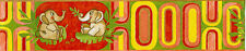 "0554-3-) 1 Rolle schicke Kinderzimmer Borte Bordüre ""lustige Elefanten"""