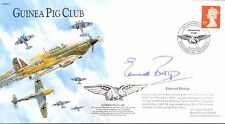 BBS Guinea Pig Club RAF cover signed EDWARD BISHOP Author McIndoe's Army