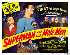 SUPERMAN AND THE MOLE MEN LOBBY TITLE CARD POSTER 1951 GEORGE REEVES CLARK KENT