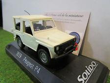 PEUGEOT P4 blanc au 1/43 SOLIDO 1859 voiture miniature
