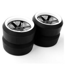 4Pcs 6mm Offset Drift Tires Wheel Rims For HPI HSP Racing 1:10 On-Road Car RC