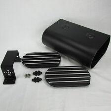 BLACK Motorcycle Electronics Box Storage Holder W/ Lithium Battery Strap AG801 M
