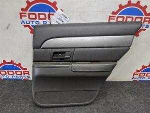2003 04 MERCURY MARAUDER DRIVER LEFT REAR DOOR TRIM PANEL BLACK