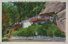 Cliff Dwellers Inn Chimney Rock, North Carolina NC -- Old Vintage Linen Postcard
