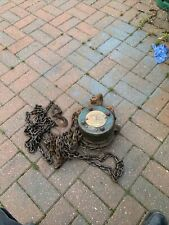 More details for vintage felco block and tackle hoist winch long chain swl 5 cwt lifting gear