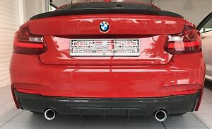 For BMW M Package F22 F23 M235i 2er Cup Carbon Vln DTM Style Rear Bumper Diffuse