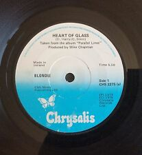 "Blondie Heart Of Glass Rare Original Ireland 7"" Punk New Wave Debbie Harry"