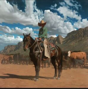 """Mark Maggiori HIGH NOON Signed Limited Edition (245 Copies) 30"""" x 30"""" Bay Horse"""