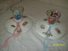 Markenlose Deko-Kerzenständer & -Teelichthalter im Shabby-Stil aus Holz